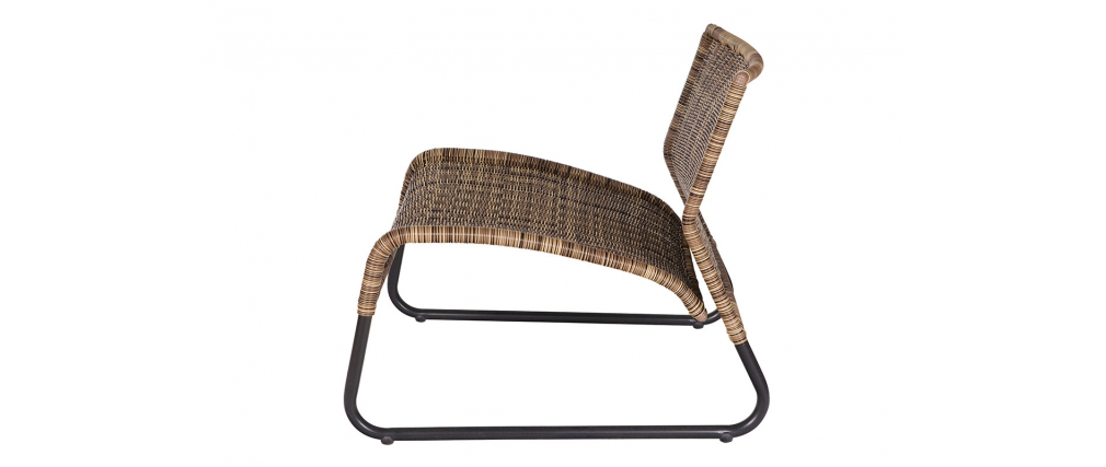 fauteuil bas design fibre synth tique alaya miliboo. Black Bedroom Furniture Sets. Home Design Ideas