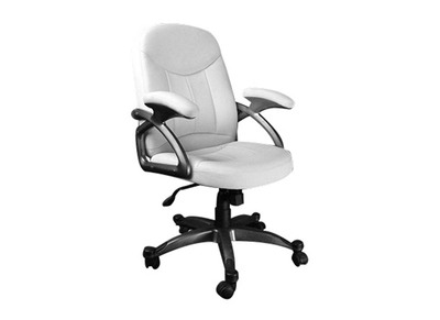 Fauteuil / chaise de bureau blanc design Enzo