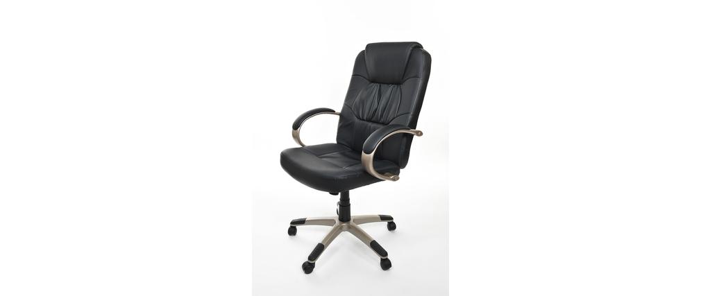 fauteuil chaise de bureau moderne hugo miliboo. Black Bedroom Furniture Sets. Home Design Ideas