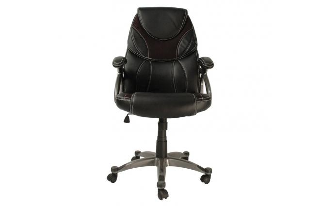 fauteuil chaise de bureau noir moderne alessandro miliboo. Black Bedroom Furniture Sets. Home Design Ideas