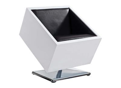 Fauteuil / chaise design noir et blanc SQUARE BOX