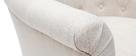 Fauteuil classique tissu coloris naturel pieds bois clair BALTHAZAR