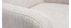 Fauteuil classique tissu naturel pieds bois clair RODIN