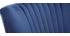 Fauteuil classique velours bleu foncé ZOLA