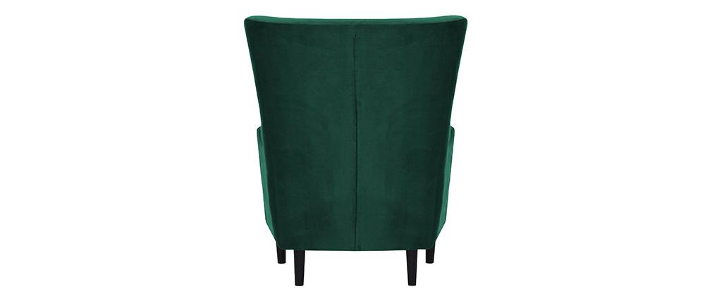 Fauteuil classique velours vert PALACE