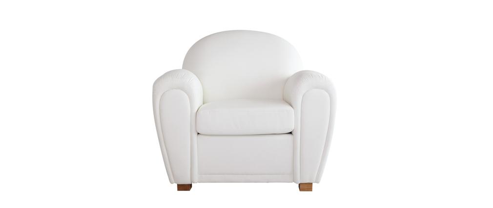 fauteuil club cuir blanc new club miliboo