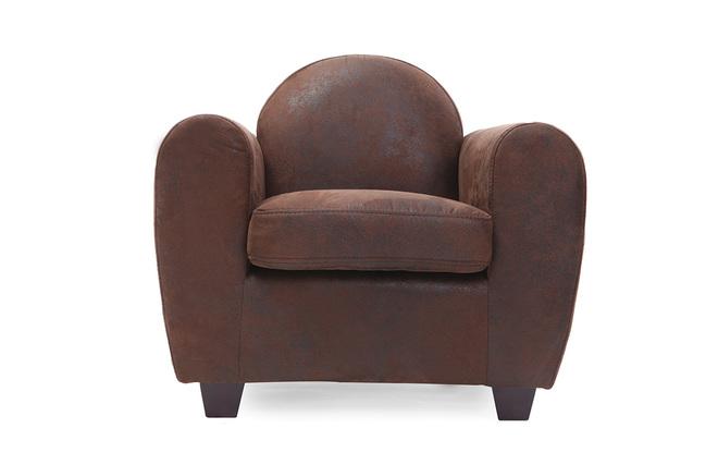 fauteuil club enfant chocolat baby paulo miliboo. Black Bedroom Furniture Sets. Home Design Ideas