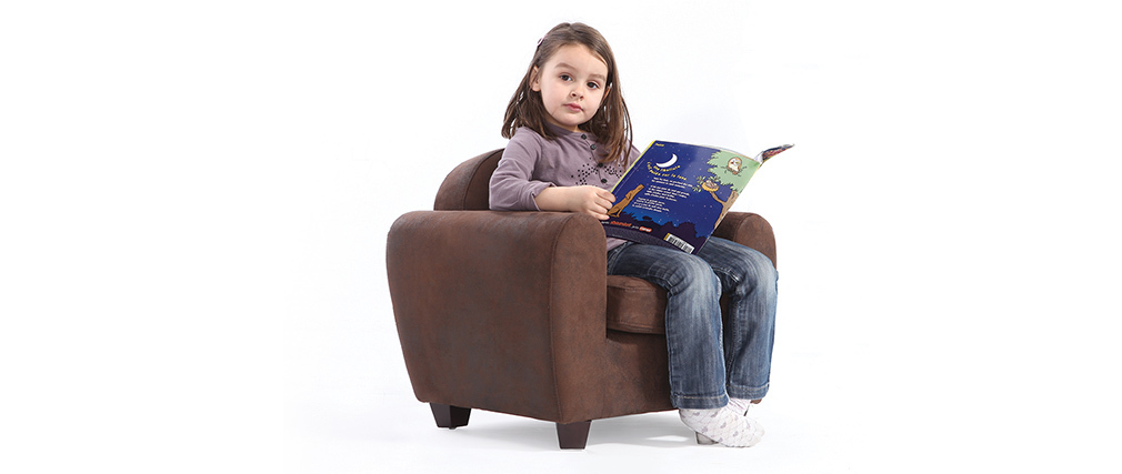 Fauteuil Club enfant chocolat BABY PAULO