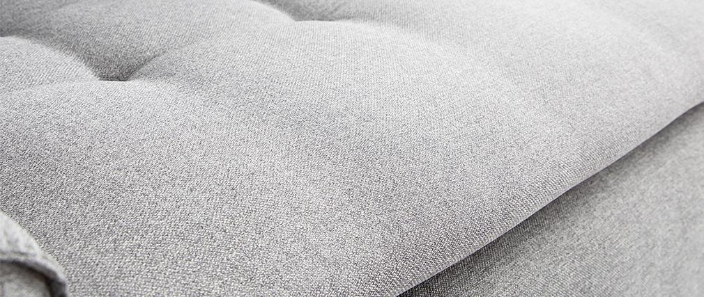 Fauteuil connecté tissu gris clair