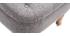 Fauteuil crapaud classique tissu gris clair ODEON