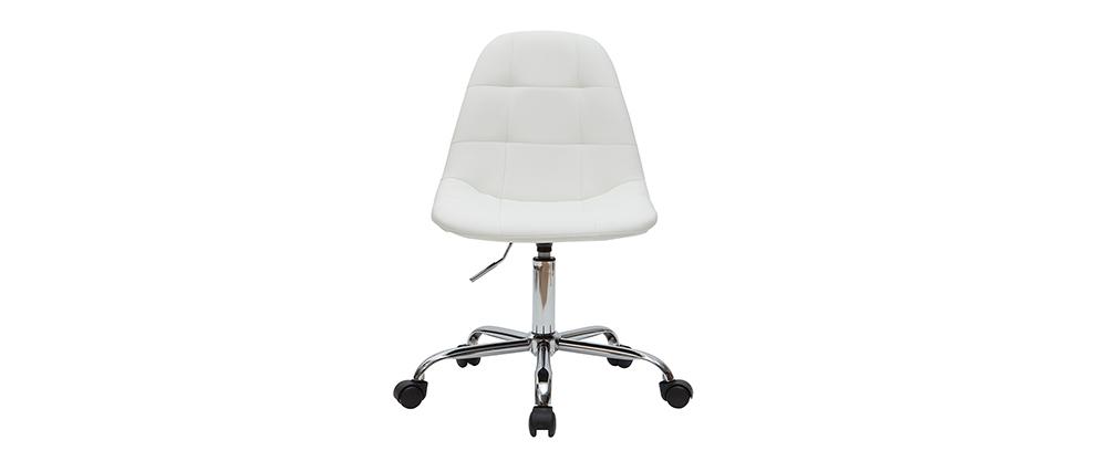 Fauteuil de bureau design blanc COX