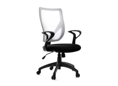 Fauteuil de bureau design blanc et noir PAOLO