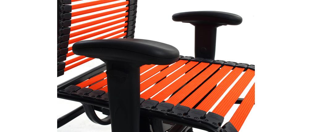 fauteuil de bureau design elastique orange stardust v2 miliboo. Black Bedroom Furniture Sets. Home Design Ideas