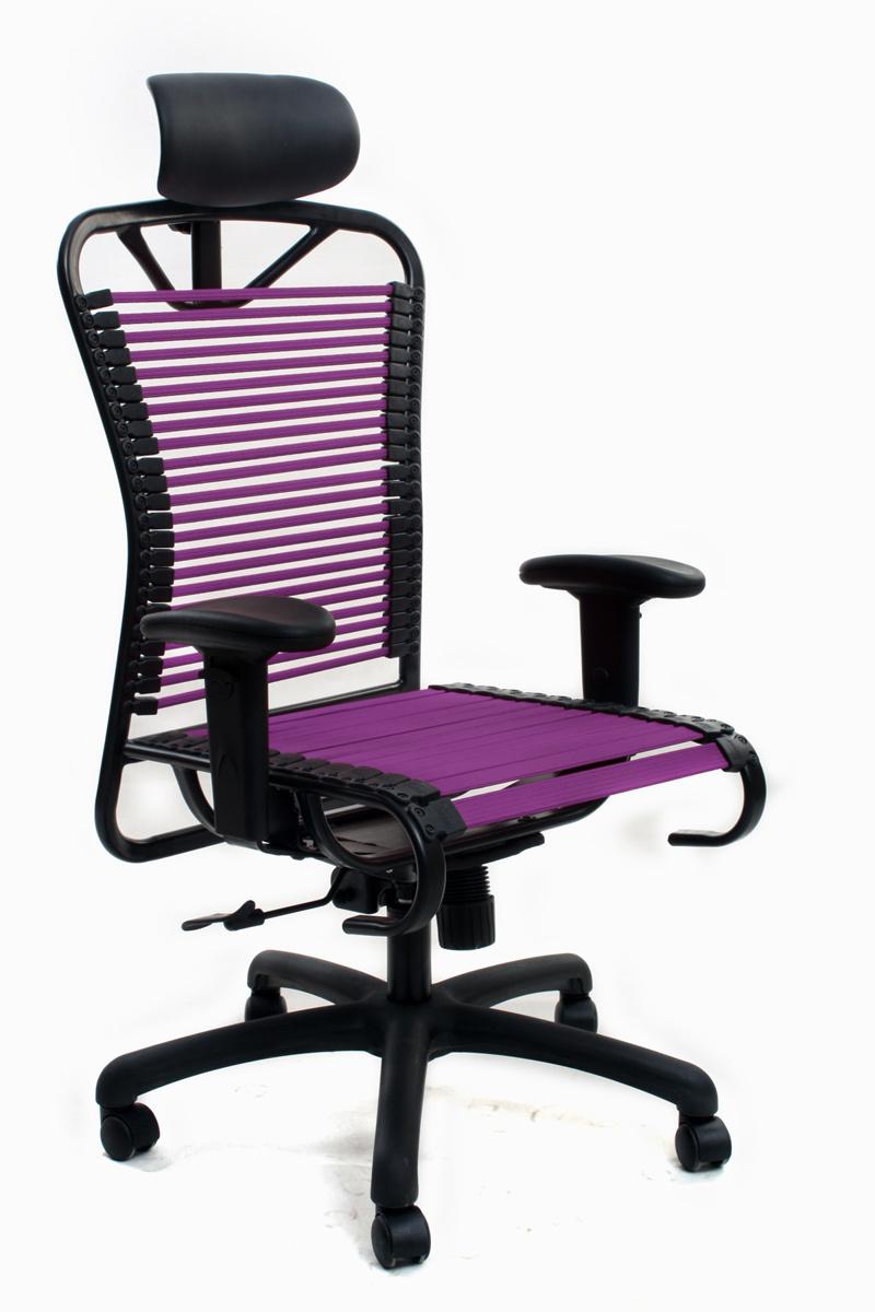 fauteuil de bureau design elastique violet stardust v2. Black Bedroom Furniture Sets. Home Design Ideas