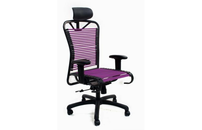 fauteuil de bureau design elastique violet stardust v2 miliboo. Black Bedroom Furniture Sets. Home Design Ideas