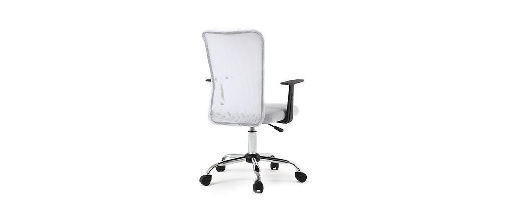 Fauteuil de bureau design en mesh blanc PLUZ