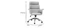 Fauteuil de bureau design en tissu gris et bois clair ELON