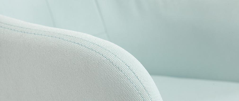 Fauteuil de bureau design en tissu menthe à l