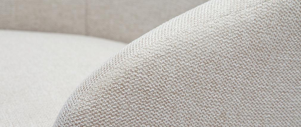 Fauteuil de bureau design en tissu naturel SCARLETT