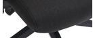 Fauteuil de bureau design en tissu noir CHUCK