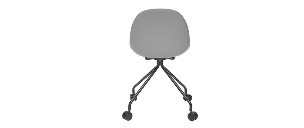 Fauteuil de bureau design gris et noir CONCHA