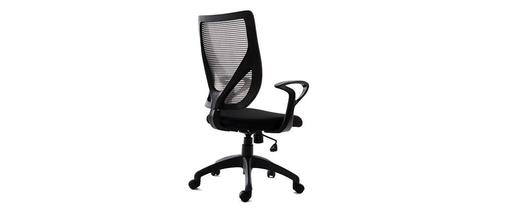 Fauteuil de bureau design gris et noir PAOLO