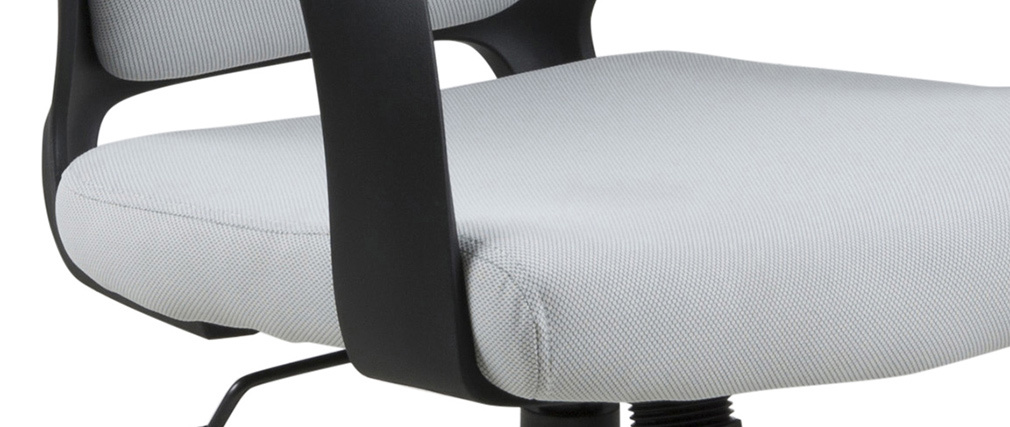 Fauteuil de bureau design gris et noir YALE