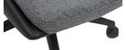Fauteuil de bureau design gris foncé et noir TIM