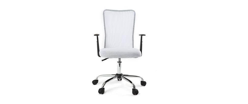 Fauteuil de bureau design mesh blanc PLUZ