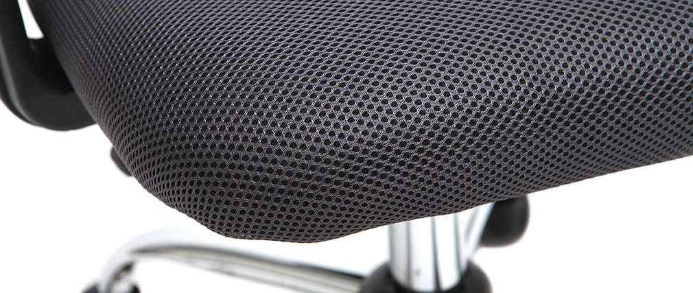 Fauteuil de bureau design mesh gris PLUZ