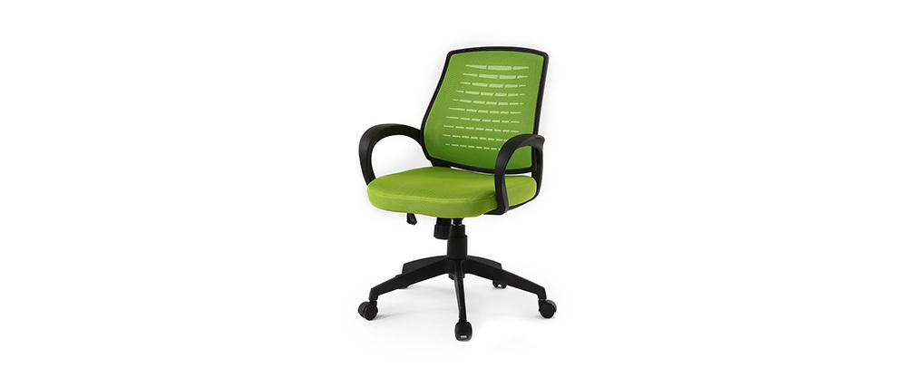 Fauteuil de bureau design mesh vert JUNIO