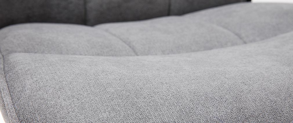 Fauteuil de bureau design métal et tissu gris MARSHALL