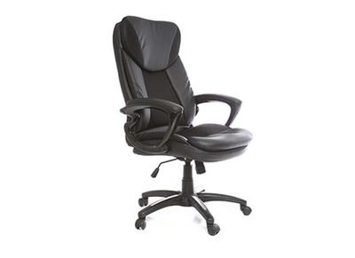 Fauteuil de bureau design noir ALDO