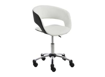 Fauteuil de bureau design noir/blanc GRAVIT