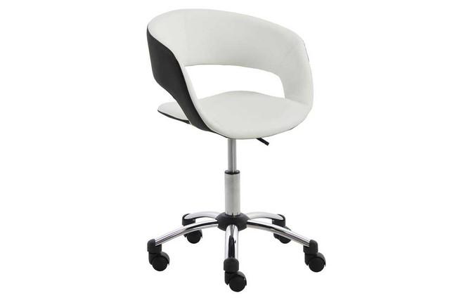 Fauteuil de bureau design noir blanc gravit miliboo