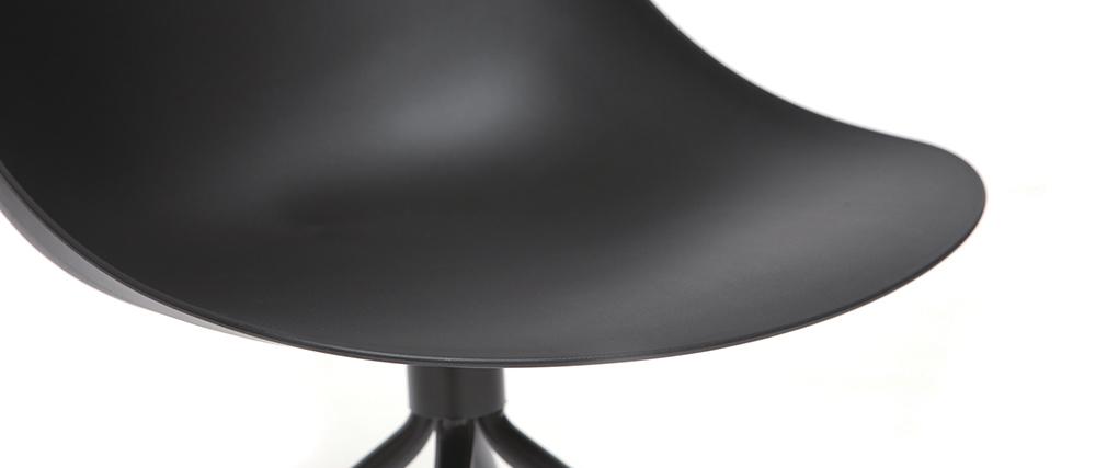 Fauteuil de bureau design noir CONCHA