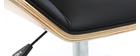 Fauteuil de bureau design noir et bois clair MELKIOR