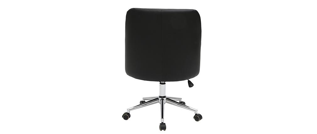 Fauteuil de bureau design noir SCARLETT