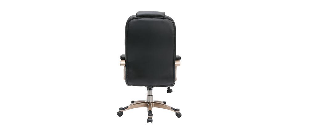 Fauteuil de bureau design noir TORONTO
