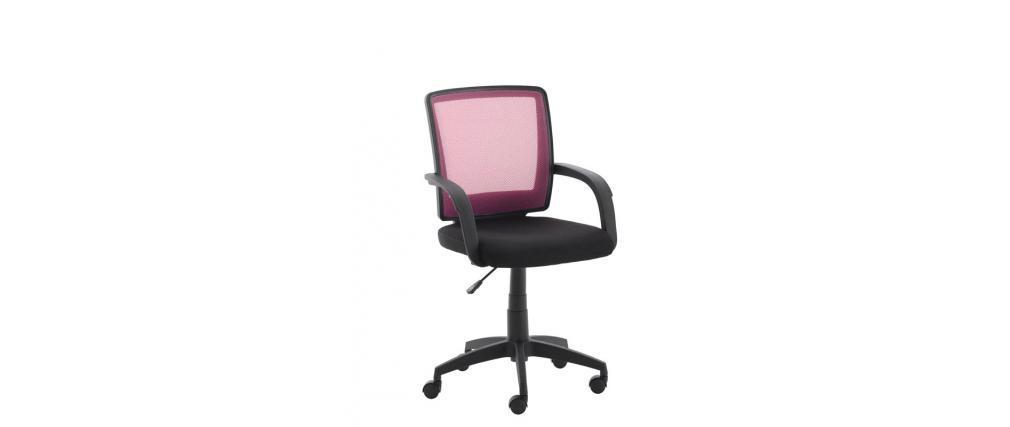 Fauteuil de bureau design rose tomy miliboo for Fauteuil de bureau rose