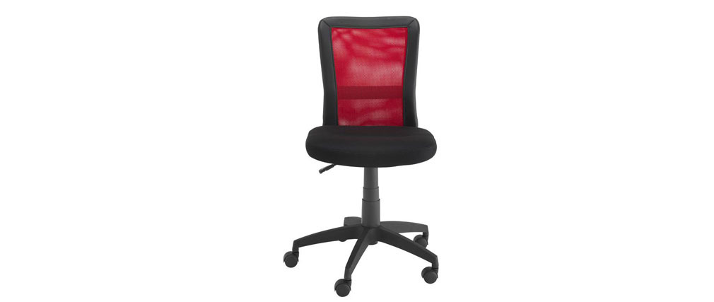 fauteuil de bureau design rouge tweeny miliboo. Black Bedroom Furniture Sets. Home Design Ideas