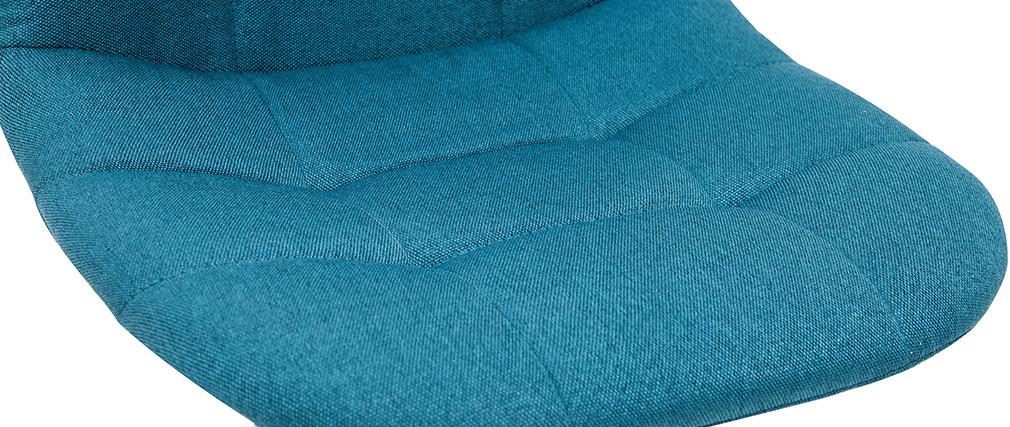 Fauteuil de bureau design tissu bleu pétrole COX