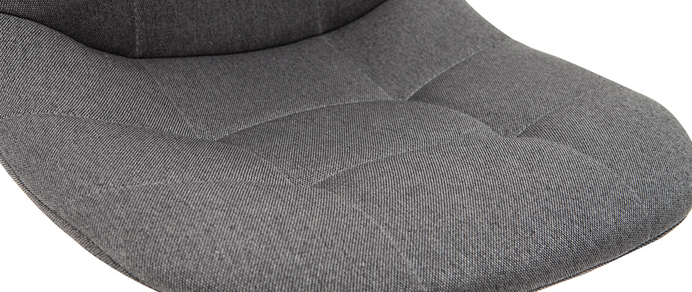 Fauteuil de bureau design tissu gris foncé COX