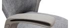 Fauteuil de bureau design tissu gris RISTER