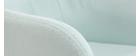 Fauteuil de bureau design tissu menthe à l'eau BALTIK