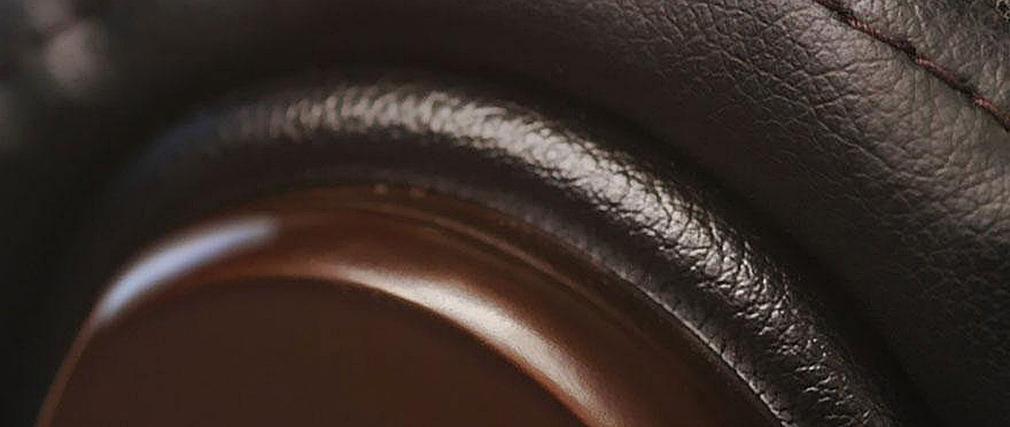 Fauteuil de bureau/direction en cuir noir MONALISA - Cuir de vache
