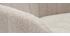 Fauteuil de bureau effet velours texturé beige naturel ROMI