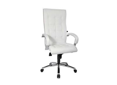 Fauteuil de bureau en cuir blanc MIRO