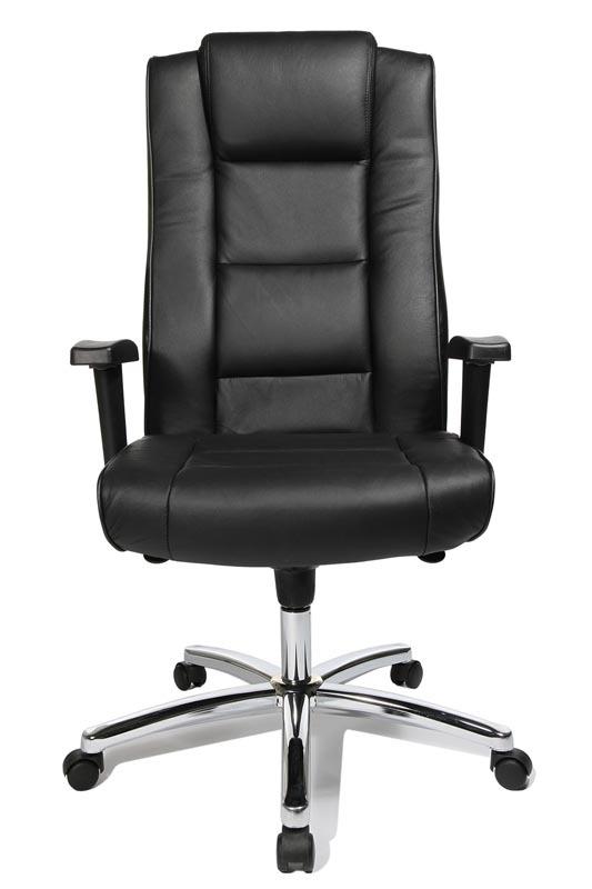 fauteuil de bureau en cuir noir goya miliboo. Black Bedroom Furniture Sets. Home Design Ideas
