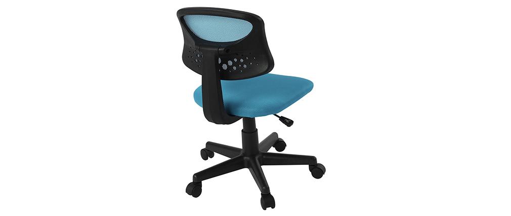 Fauteuil de bureau enfant mesh bleu MEL